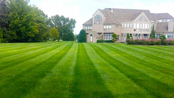 big house with front lawn