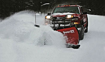 Commercial snow removal truck